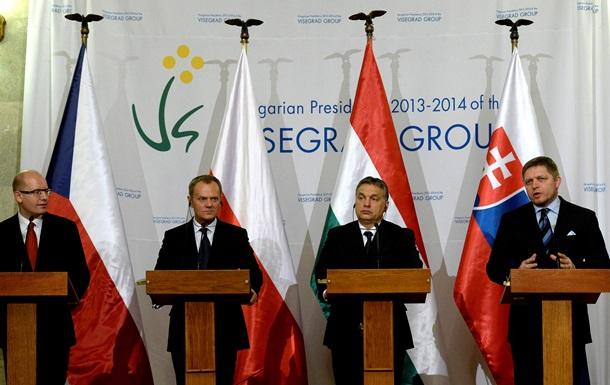 Вышеградская группа готова ускорить введение безвизового режима с Украиной
