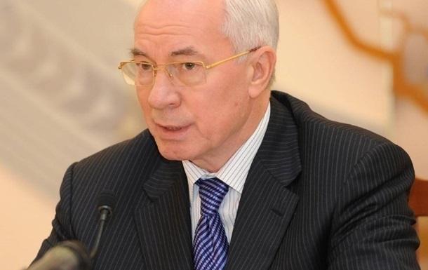 Азаров удивлен, что ЕС лишь сейчас начал говорить о финпомощи Украине