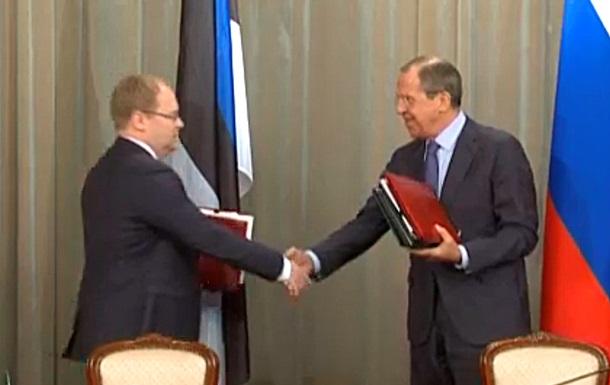 Россия и Эстония подписали договор о госгранице
