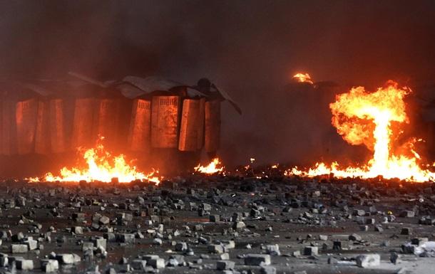 Как на войне. Фотохроники событий в Киеве 18 февраля