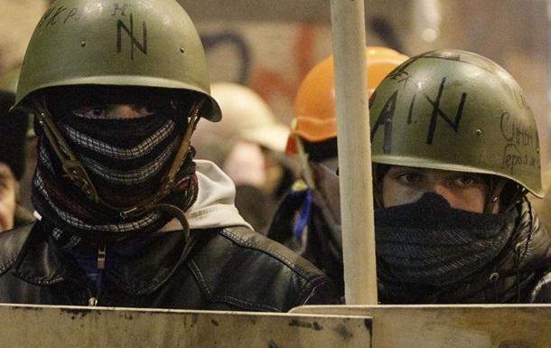 На Майдан приехало подкрепление львовской самообороны