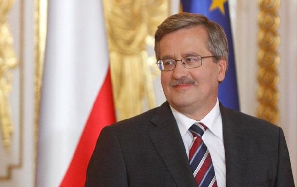 Коморовский: Польша поможет Украине с планом реформ