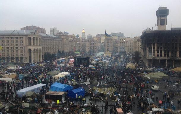 Протестующие на Майдане встретили утро в спокойной обстановке