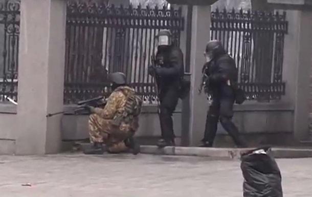 Видео подготовки снайперов и беркутовцев на Институтской 20 февраля