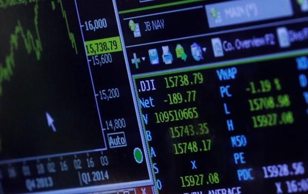 На фондовых рынках США зафиксировано падение индексов
