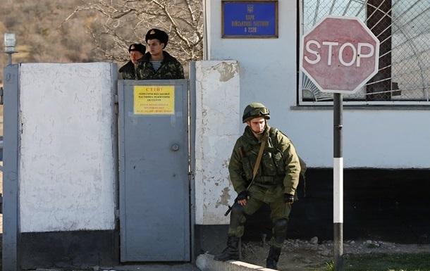 Воинскую часть в Феодосии блокирует БТР морской пехоты