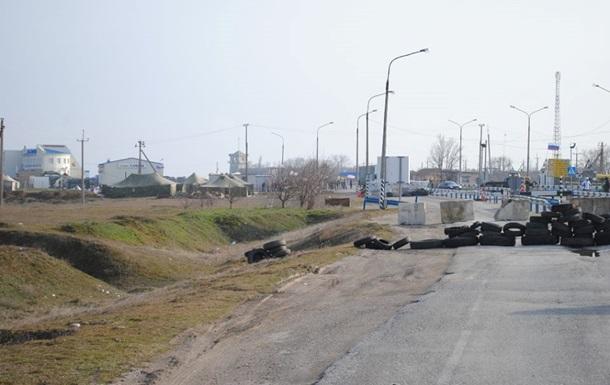 Российские военные заняли поселок Чонгар Херсонской области