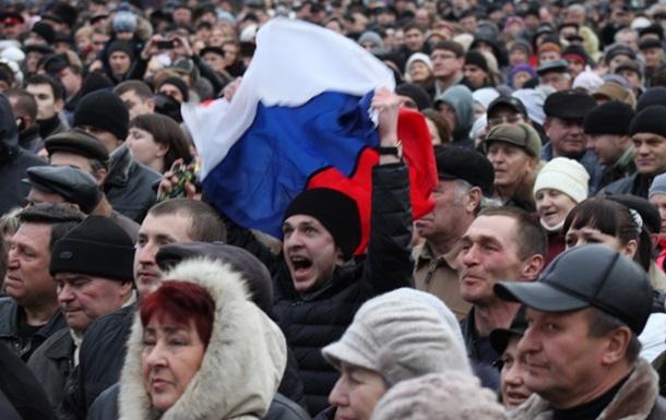 В Луганске участники пророссийского митинга захватили облгосадминистрацию