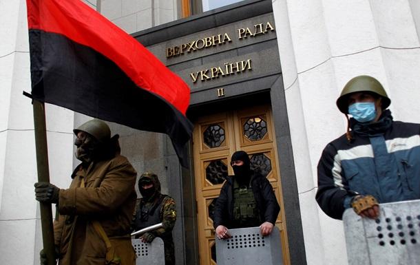 Неизвестные в камуфляже не пускают журналистов в Раду