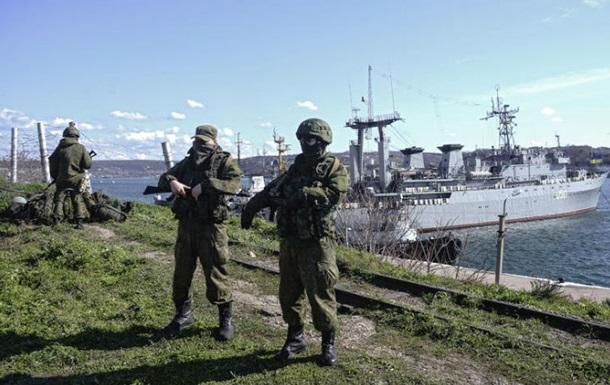 В Севастополе российские военнослужащие блокируют базу вооружения ВМС Украины