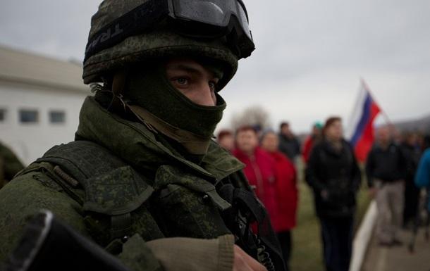 Украинская воинская часть в Симферополе захвачена российскими военными