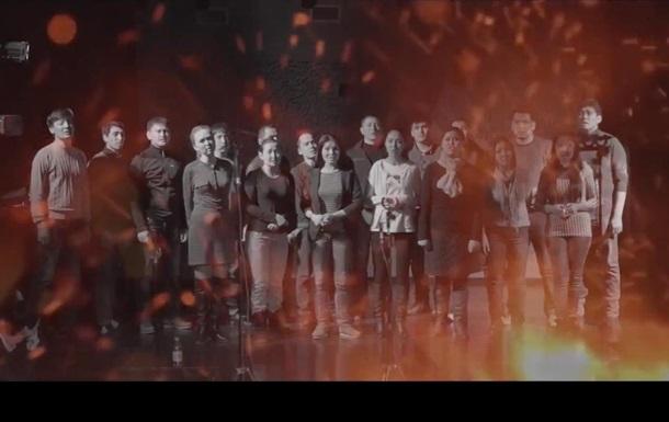 Актеры алматинского театра сняли видео в поддержку Украины