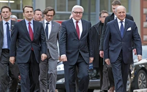 Главы МИД ФРГ, Франции и Польши определились со сроками проведения международной конференции по Украине