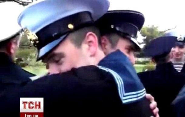 В Нахимовском училище Севастополя украинские курсанты попрощались с сокурсниками