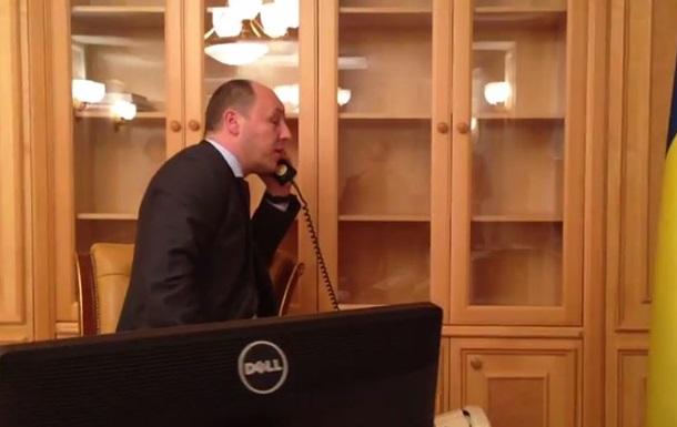 В сети появилось видео разговора Парубия с Жириновским