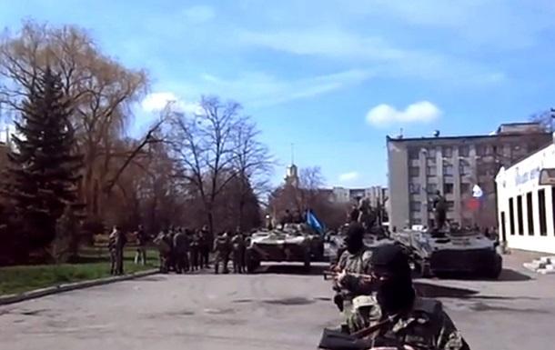 В Краматорске действительно захвачены шесть единиц бронетехники - Минобороны