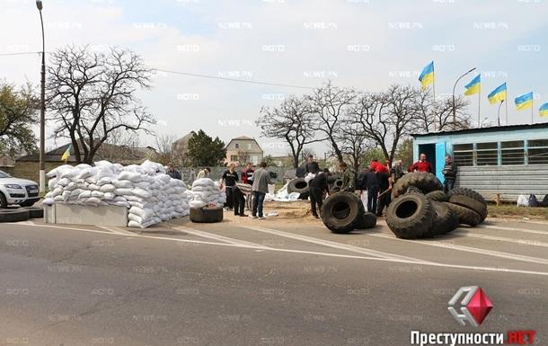 На въездах в Николаев установили блокпосты