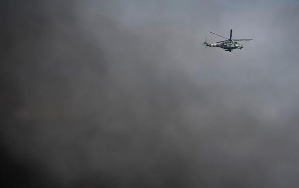 Украинские военные с вертолета разбросали листовки над Славянском