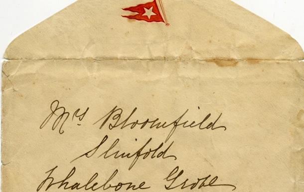 Письмо пассажирки Титаника, написанное за несколько часов до крушения, продали за 119 тысяч фунтов