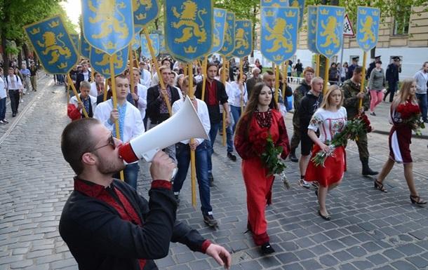 Шествие в честь дивизии СС Галичина провели в день жертв Холокоста - Царев
