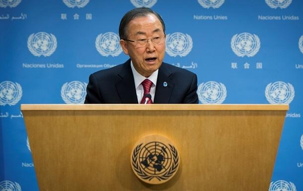 Генсек ООН требует немедленно освободить задержанных в Славянске членов миссии ОБСЕ