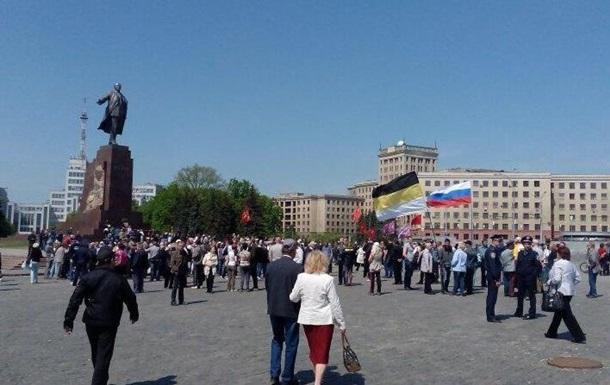 Пророссийские активисты снова митингуют в Харькове, несмотря на запрет суда