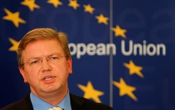 Фюле надеется, что общеукраинский круглый стол пройдет и на востоке страны