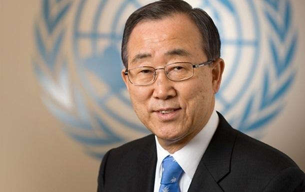 Пан Ги Мун призвал Украину урегулировать ситуацию на востоке мирным путем