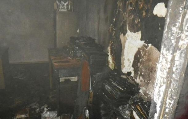В Торезе в День журналиста сожгли редакцию газеты