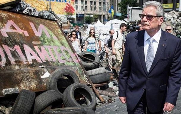 Президент Германии посетил Майдан