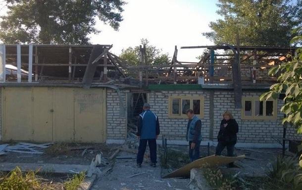 Появилось видео последствий обстрела Макарово Луганской области