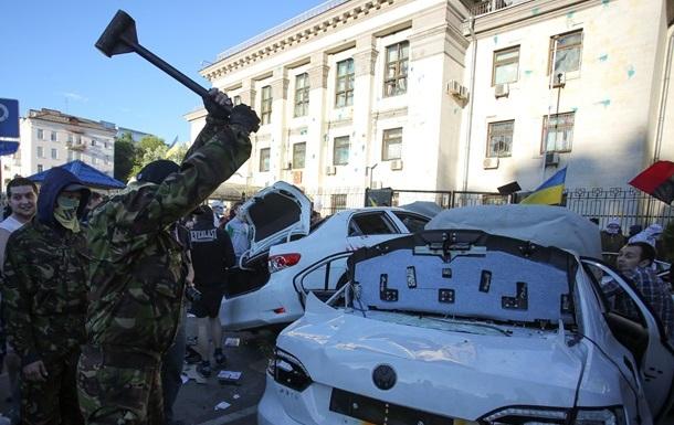 Митинг под посольством РФ хотели использовать для провокаций - МИД Украины