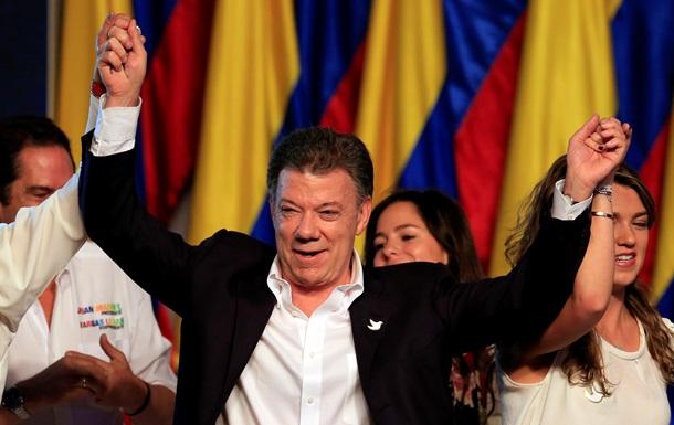 Действующий президент Колумбии Хуан Мануэль Сантос выиграл выборы