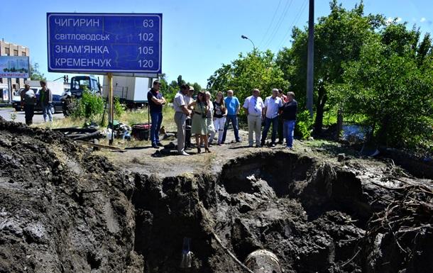 В Черкассах произошел масштабный прорыв коллектора