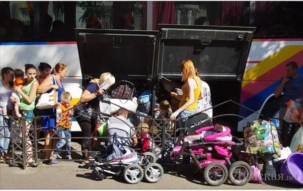 В Одессу прибыла группа беженцев из Донбасса
