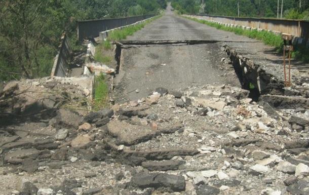 В Донецкой области взорвали мост