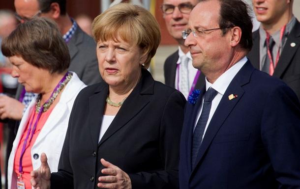 Канцлер Германии и президент Франции осудили авиаудары по Израилю