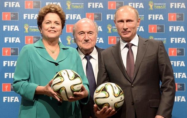 Путину передали  право  на чемпионат мира 2018 года