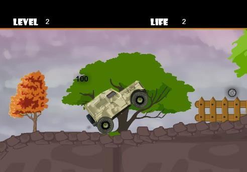 Флеш игра Военный джип