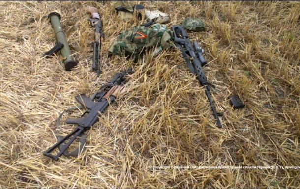 В Луганской области пограничники обнаружили снайперскую точку и арсенал оружия