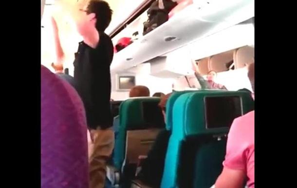 Последнее видео сделанное пасажиром Боинга 777 перед крушением 17.07.2014