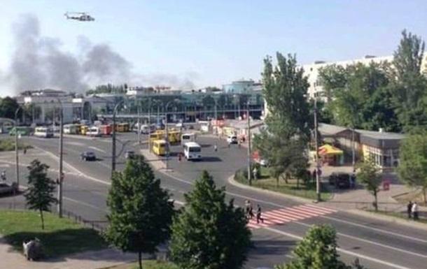 Возле ж/д вокзала Донецка ведутся бои, жителей просят не выходить на улицу