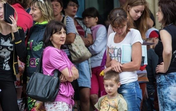 Беженцев из зоны АТО уже около ста тысяч