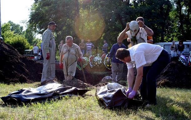 В Славянске обнаружили массовое захоронение мирных жителей
