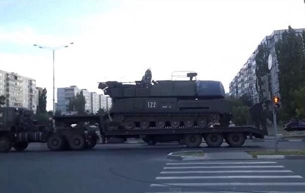Российские  Буки  проехали в направлении границы с Украиной