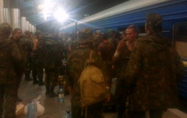Бойцы 72-ой бригады доставлены в Киев