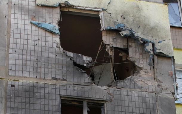 Донецк после обстрела фото