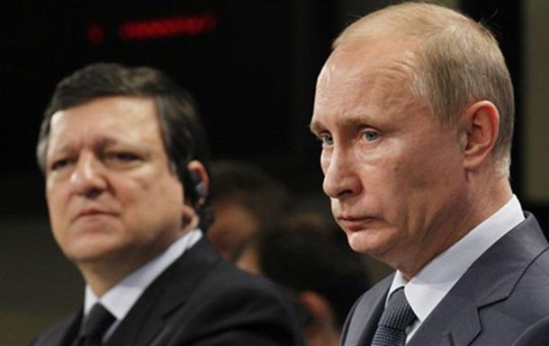 Путин сообщил Баррозу об отправлении российского гуманитарного конвоя в Украину