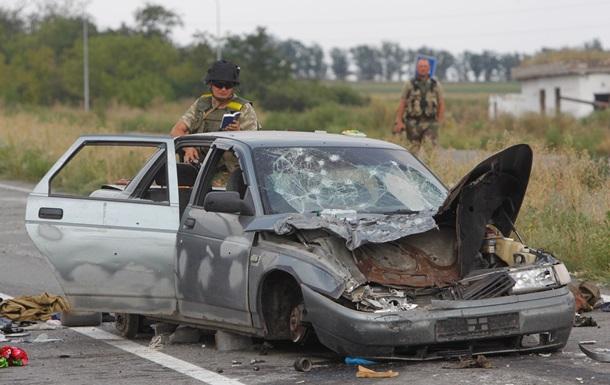 Силы АТО уничтожили автомобиль  с сепаратистами