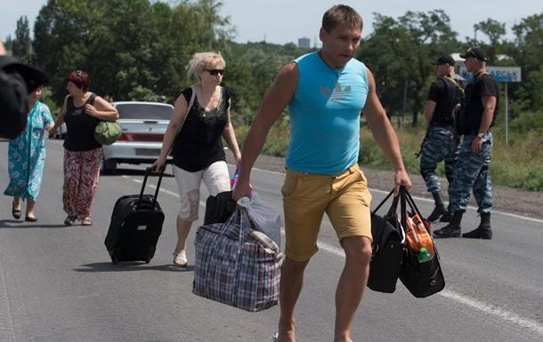 Луганск по гуманитарному коридору покинули уже более пяти тысяч жителей